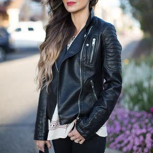 43a1a45b Women Zara Leather Biker Jacket on Poshmark